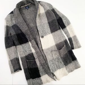 3 for $25 American Eagle Mohair Plaid Cardigan